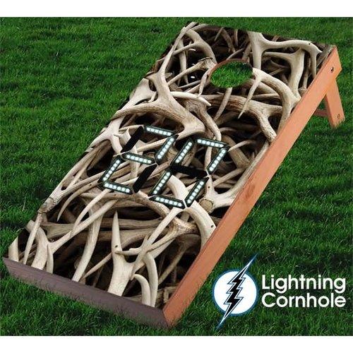 Lightning Cornhole Electronic Scoring Antler Cornhole Board