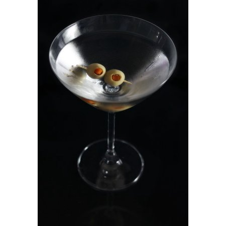 Canvas Print Glass Cocktail Bar Martini Ice Alcohol Drink Stretched Canvas 10 x - Halloween Drinks Alcohol Dry Ice