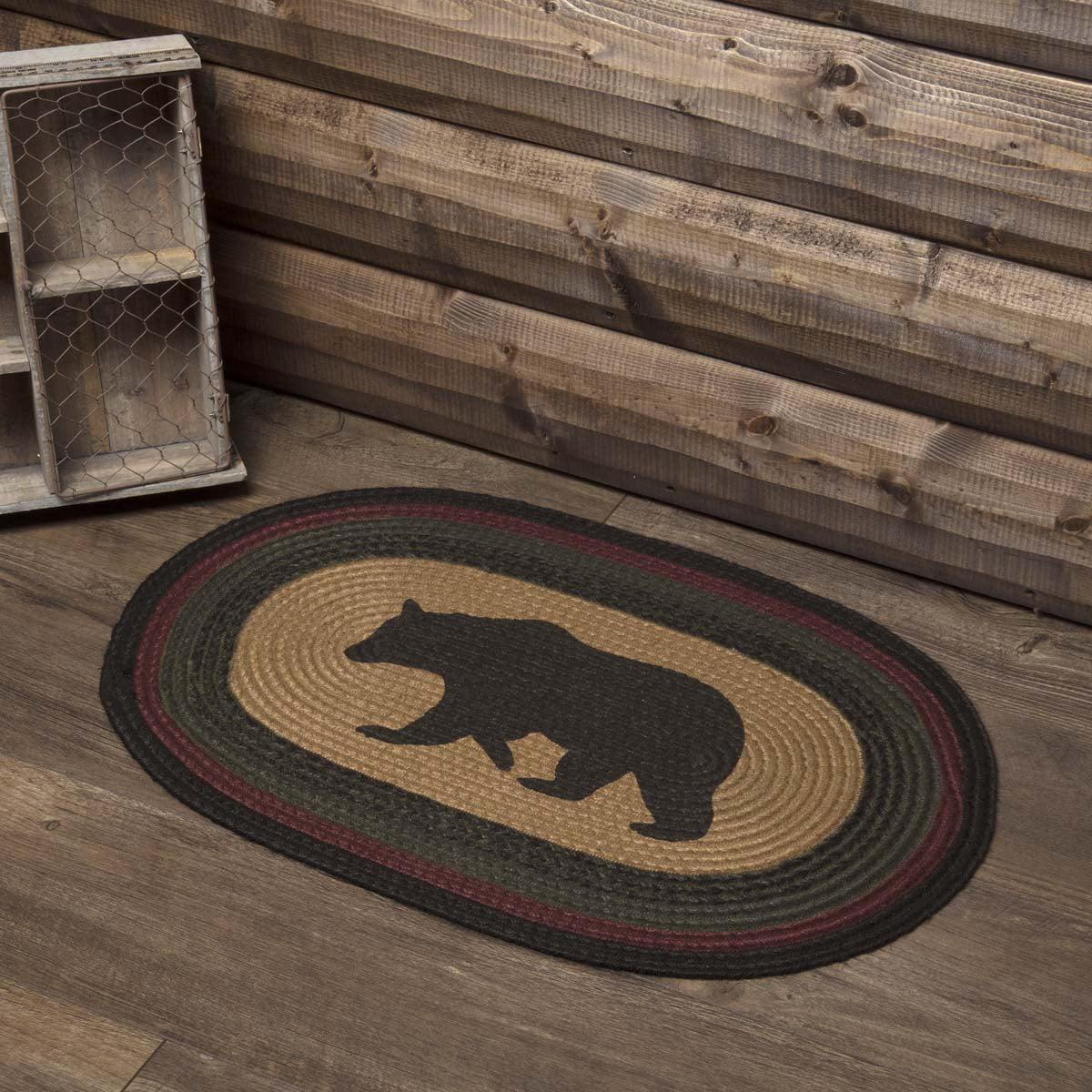 Walmart Moose Rug: Dark Tan Rustic & Lodge Flooring Laramie Bear Jute