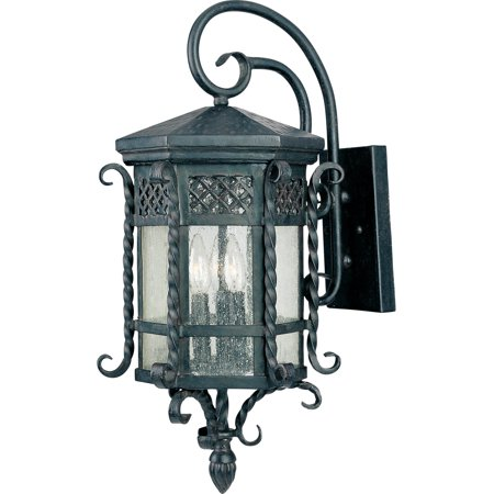 Wall Sconces 3 Light Bulb Fixture With Country Forge Finish Forged Iron Material Candelabra Bulbs 12 inch 120 Watts