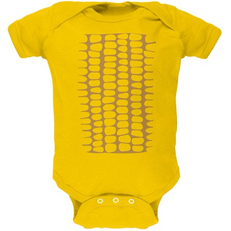 Halloween Corn on the Cob Costume Soft Baby One Piece](Be A Baby For Halloween)