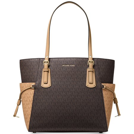 MICHAEL Michael Kors Voyager East West Signature Tote Brown/Butternut