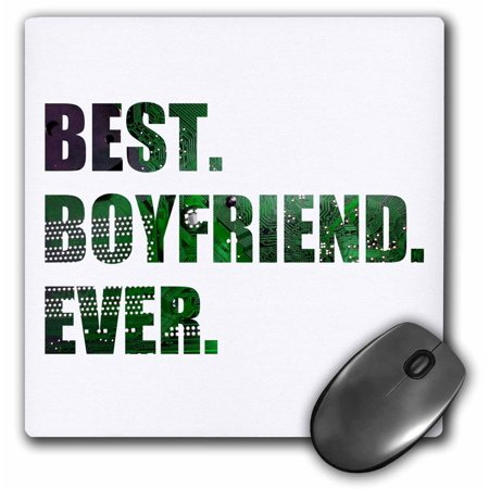 Buy 3dRose Best Boyfriend Ever – cut out of green computer microchip graphic, Mouse Pad, 8 by 8 inches Before Too Late