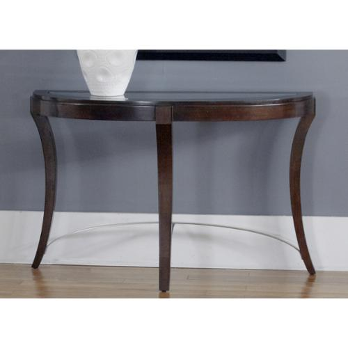 Liberty Dark Truffle Glass Top Oval Sofa Table