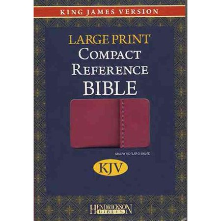 Holy Bible  King James Version  Berry  Imitation Leather  Large Print Compact Reference Bible W Magnetic Flap