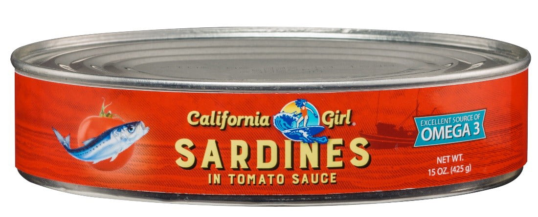 California Girl Sardines, In Tomato Sauce, 15 Oz by Atlapac Trading Company