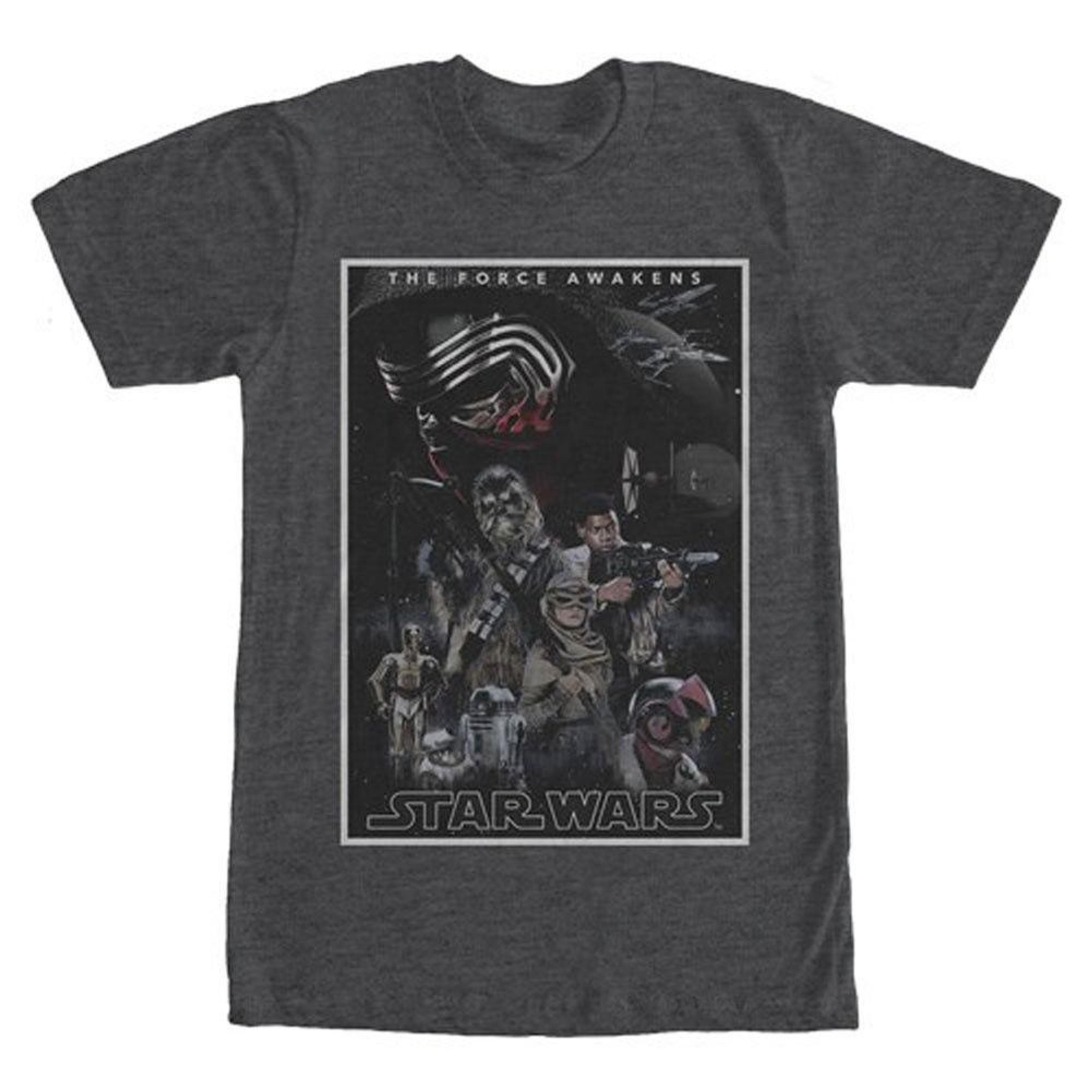 Star Wars Men's  Poster T-shirt Charcoal