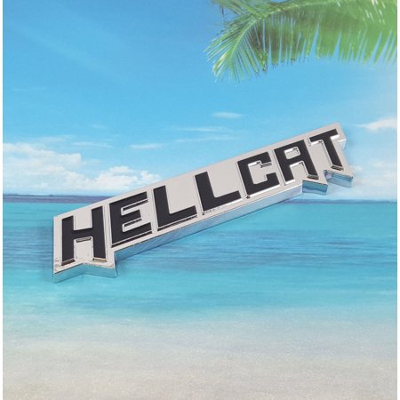 Black HELLCAT Emblem Badge Decal Sticker Dodge Challenger SRT New Metal - Challenger Black Dial
