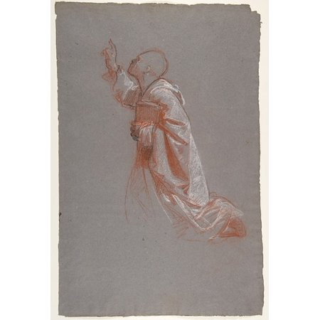 Cleric  Lower Register Study For Wall Paintings In The Chapel Of Saint Remi Sainte Clotilde Paris 1858  Poster Print By Isidore Pils  French Paris 181315   1875 Douarnenez   18 X 24