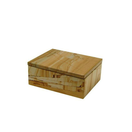 5 in. Rectangular Asteria Keepsake Box, Teak Stone ()