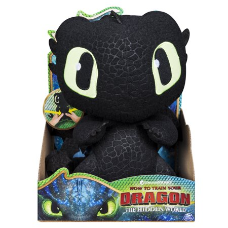 10 Inch Plush Snowflake - DreamWorks Dragons, Squeeze & Growl Toothless, 10-Inch Plush Dragon with Sounds, for Kids Aged 4 and Up