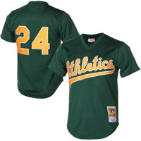 Rickey Henderson Oakland Athletics Mitchell & Ness 1998 Cooperstown Mesh Batting Practice Jersey - Green