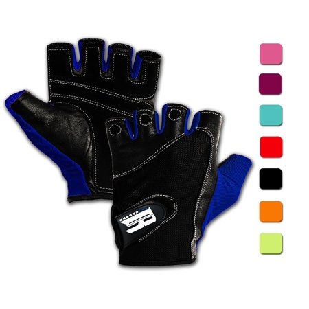 Weight Lifting Gloves With Wrist Wraps - Ideal Training Gloves Women - Premium Workout Gloves With Wrist Support -best Sport Gloves For Women - Gym Gloves (Blue (Best Gym Program For Women)