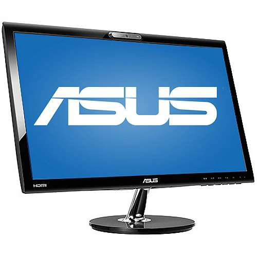 "Asus 21.5"" LED Widescreen Monitor with Built-in HD Webcam (VK228H-CSM Black)"
