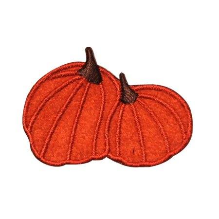 ID 0824 Pair of Pumpkins Patch Halloween Decoration Embroidered Iron On Applique (Halloween Pumpkin Patch Phoenix)