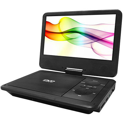 "Sylvania 9"" Premium Swivel Screen Portable DVD Player, SDVD9019"