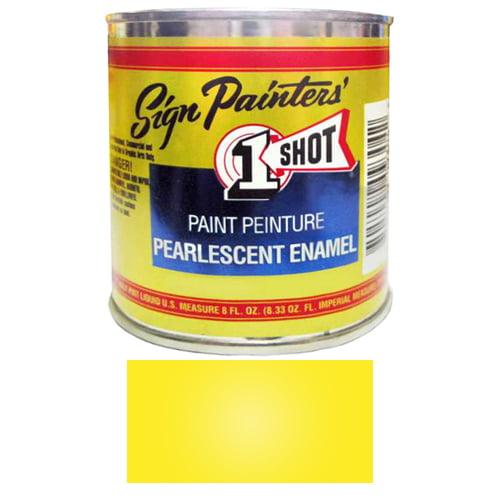 1/2 Pint 1 Shot PEARLESCENT PRIMROSE YELLOW Paint Lettering Enamel Pinstriping