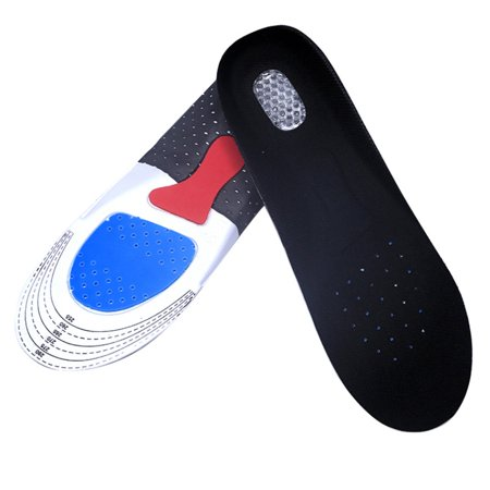 Silicone Insoles - Shoe Inserts for Walking, Running, Hiking - Full Length Orthotics for Men, Women - Cushion Soles for Heels, Arch Support, Plantar Fasciitis, Massage Flat (The Best Walking Shoes For Plantar Fasciitis)