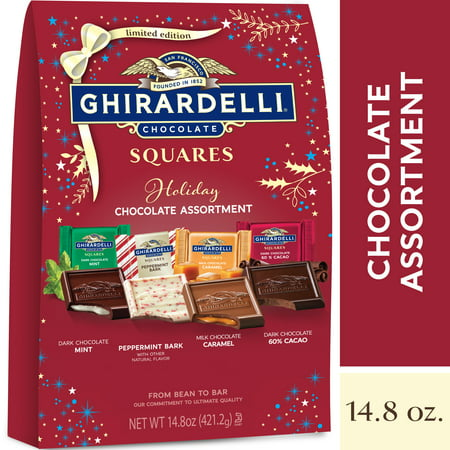 Ghirardelli Holiday Limited Edition Squares Assorted XL Bag - 14.8oz