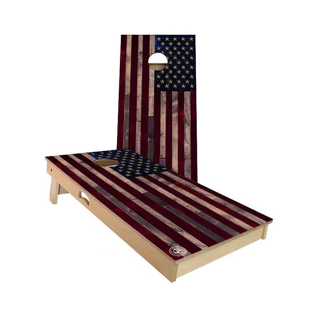 Slick Woody's American Flag Regulation Cornhole Board Beanbag Toss Game Set by Slick Woody's Cornhole Co.