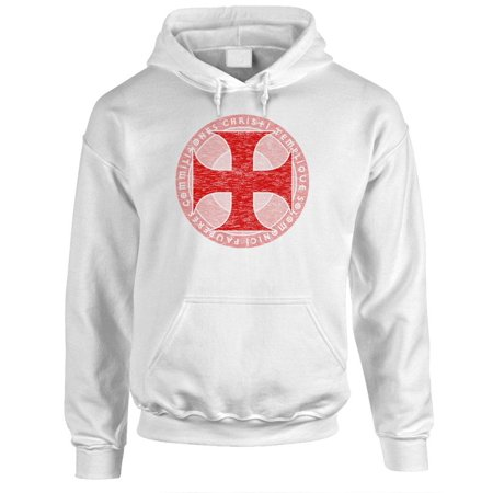 KNIGHTS TEMPLAR - christian jesus christ god - Fleece PULLOVER Hoodie](Dark Knight Hoodie)