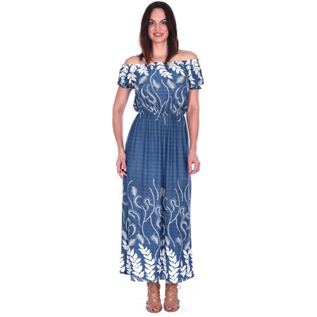 Hots Wing Womens Full Length Maxi Dress On & Off Shoulder Design in 4 - Hot Women On Pinterest
