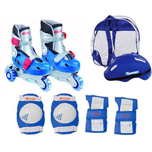 Chicago Skates Boys' Training Inline Skate Combo, Sizes 1-4 by Generic