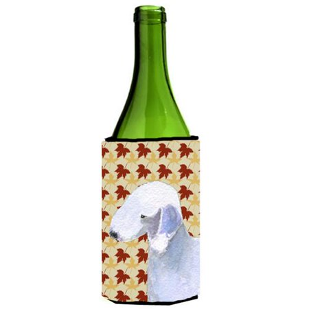 Bedlington Terrier Fall Leaves Portrait Wine bottle sleeve Hugger - image 1 de 1