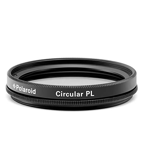 Polaroid Optics 77mm Multi-Coated Circular Polarizer Filter [CPL] For 'On Location' Color Saturation, Contrast & Reflection Control– Compatible w/ All Popular Camera Lens Models