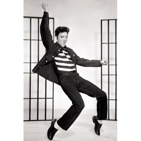 Classic Elvis Jailhouse Rock Movie Still Poster Swingin' Hips Cool 24X36