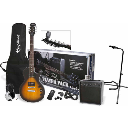 Epiphone Les Paul Exclusive Player Pack with Samson HP30 Headphones and On-Stage XCG4... by Epiphone