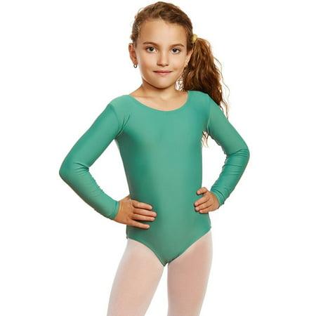 8f4e88dca2d91 Leveret - Leveret Girls Leotard Basic Long Sleeve Ballet Dance Leotard Kids  & Toddler Shirt (2-14 Years) Variety of Colors - Walmart.com