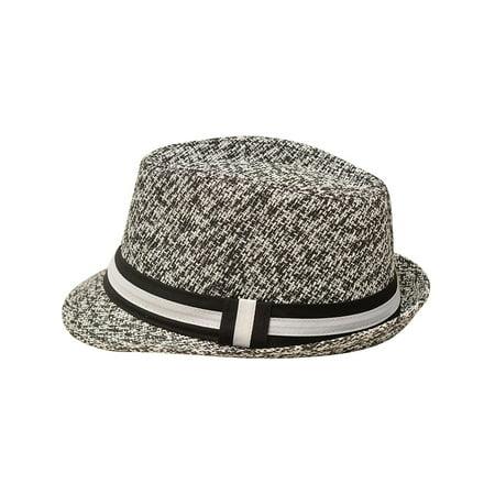 Sophias Style Unisex Junior Adult Black Grosgrain Ribbon Fedora Summer Hat](Kid Fedora)