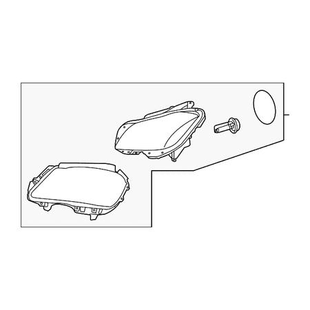 Genuine OE Mercedes-Benz Headlamp Assembly 218-820-52-61