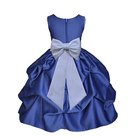 Ekidsbridal Navy Blue Satin Pick-Up Flower Girl Dress Toddler Girl Dresses Junior Bridesmaid Dress Pageant Gown Birthday Girl Dress Communion Dress Baptism Dress Christening Dress Daily Dresses 208T](Best Christening Gowns)
