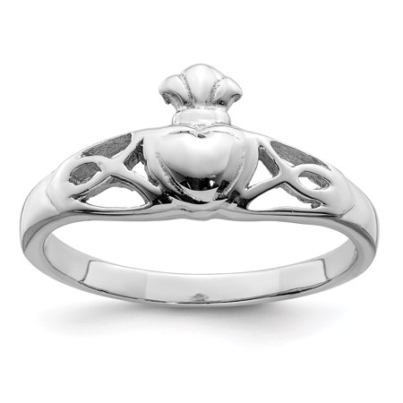 - 925 Sterling Silver Irish Claddagh Celtic Knot Band Ring Size 7.00 Gifts For Women For Her