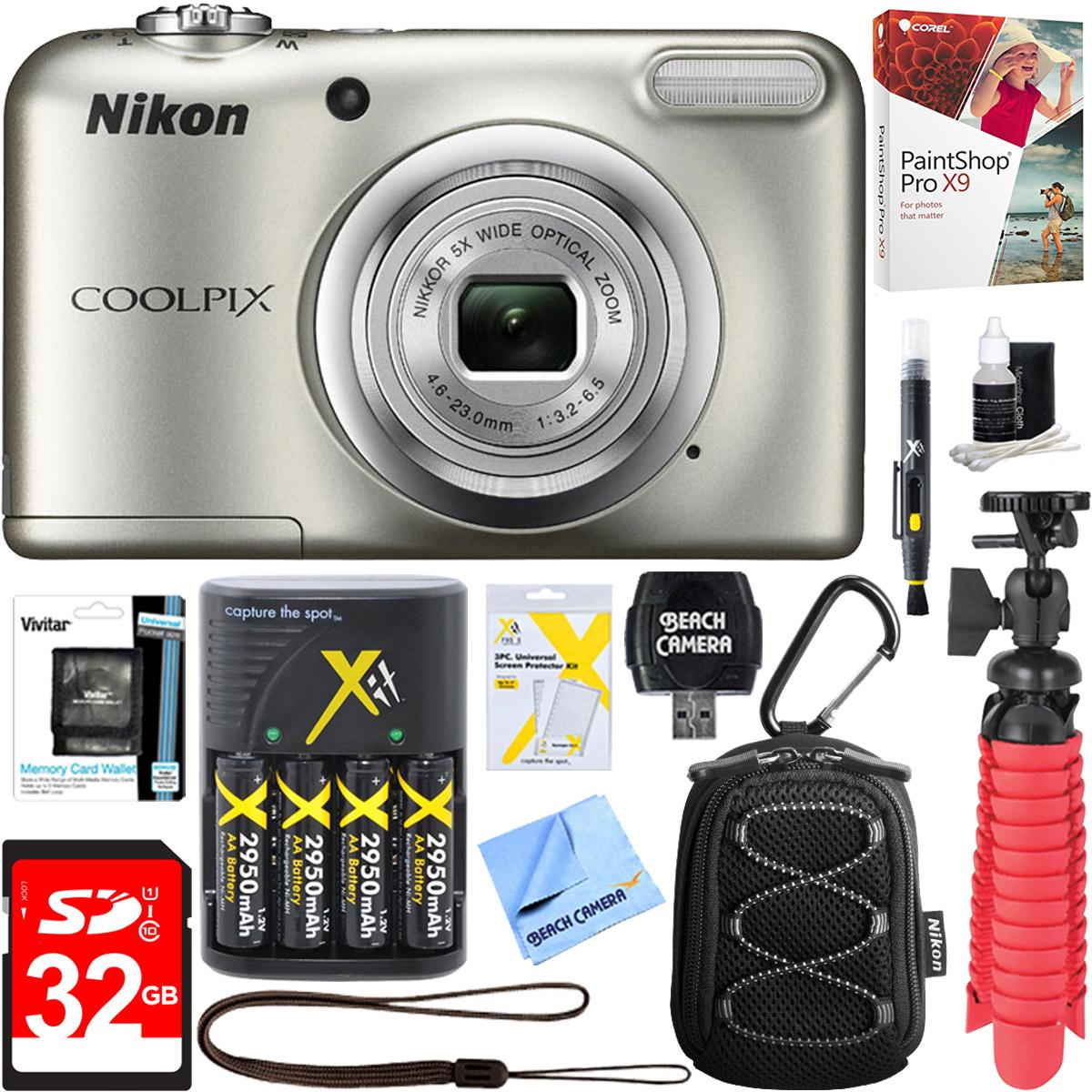 Nikon COOLPIX A10 16.1MP 5x Optical Zoom NIKKOR Glass Lens Digital Camera...
