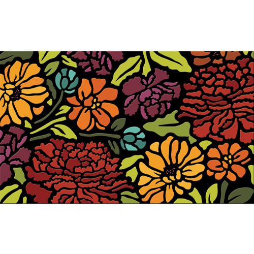 "Better Homes and Gardens 18"" x 30"" Serene Floral Spring Door Mat"