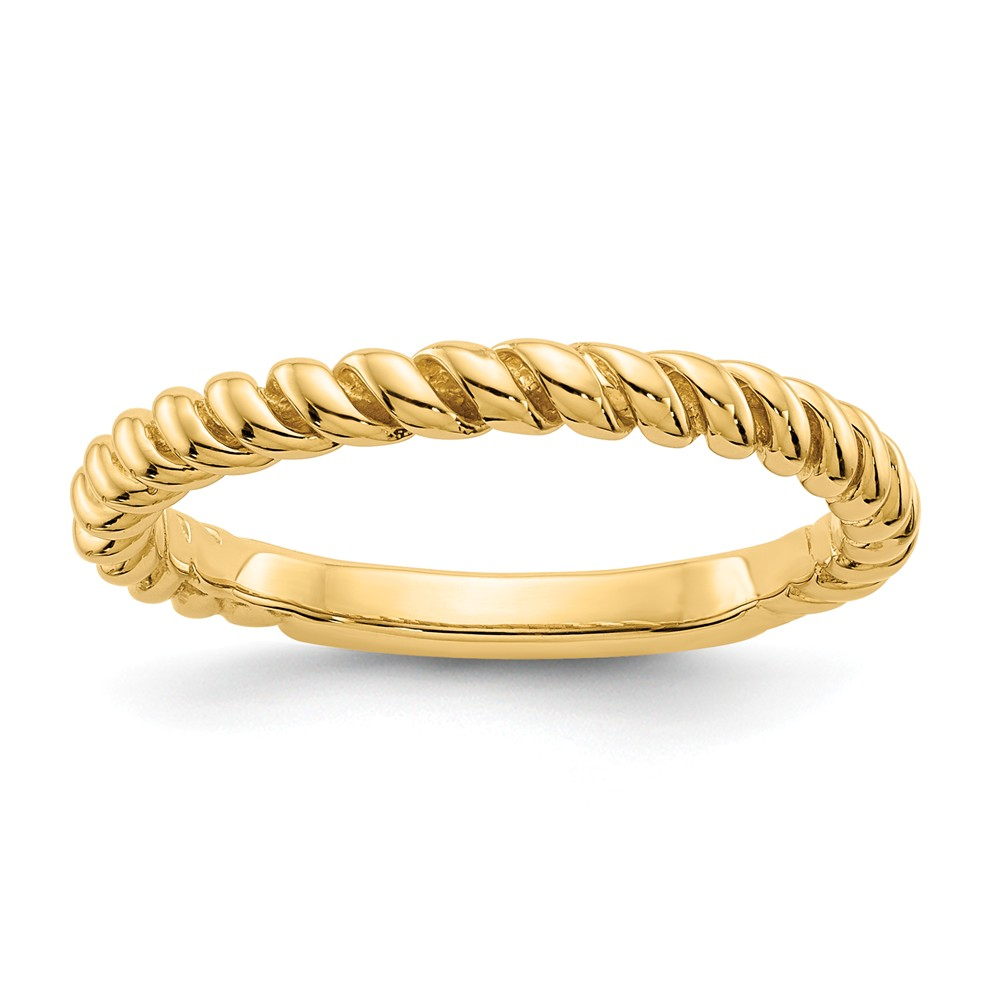 14k Yellow Gold Polished Twisted Band