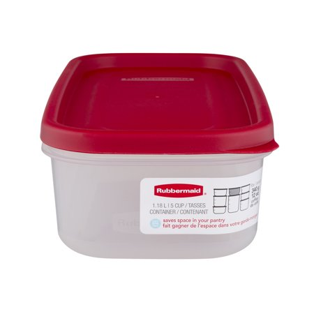 - Rubbermaid Modular Food Storage Canister, Racer Red