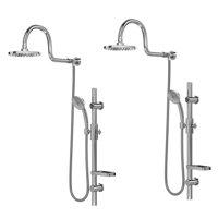 Pulse ShowerSpas 1019-CH Aqua Rain 5 Function Handheld Shower System (2 Pack)