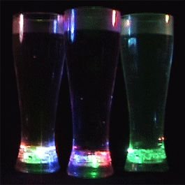 Pilsner Glass Rainbow Tall, Blinkee Fun! By - Tall Pilsner