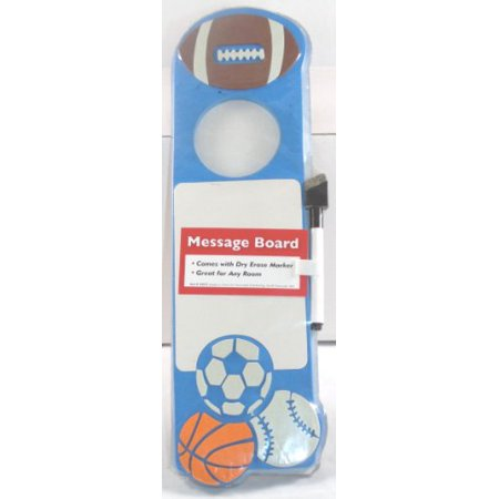 Sports Theme Doorknob Dry Erase Message Board with Marker ...