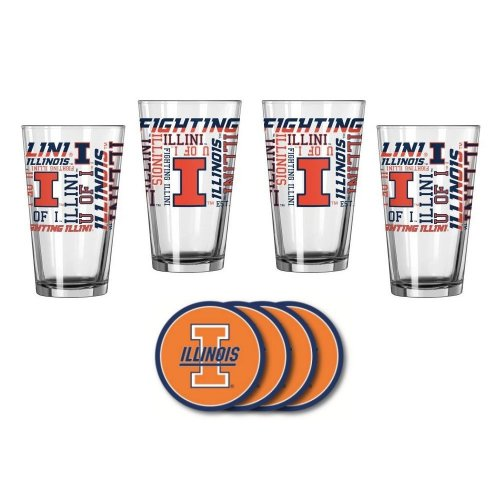 Illinois Illini Spirit Glassware Gift Set