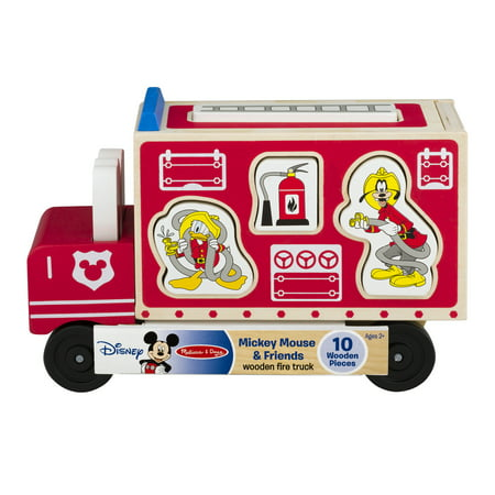 - Disney Baby Mickey Mouse & Friends Wooden Fire Truck, 10.0 PIECE(S)