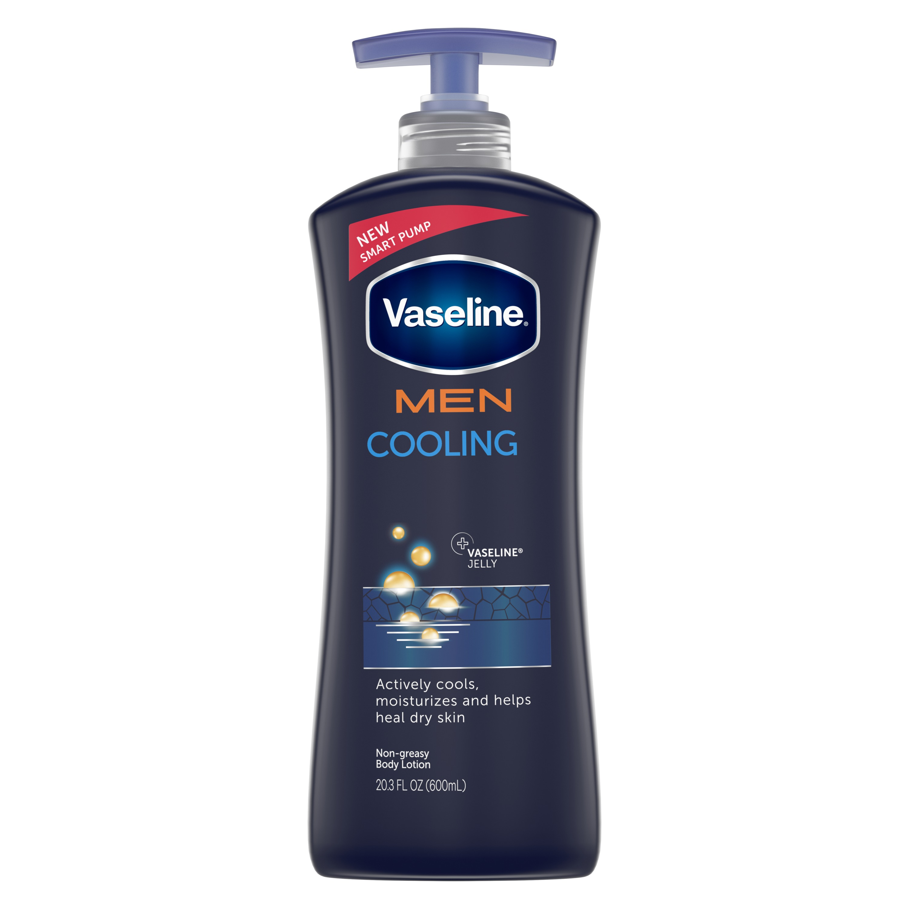 Vaseline Men Healing Moisture Body Lotion Fast Absorbing 20.3 oz