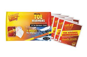 Heat Factory Adhesive Toe and Foot Warmers, 8 Pairs by Heat Factory