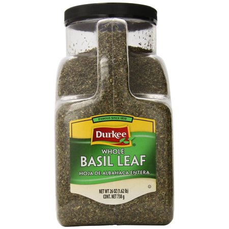 Durkee Whole Basil Leaves, 1.62-Pound (Whole Basil)