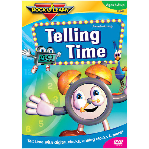 Rock N Learn Telling Time Video Dvd