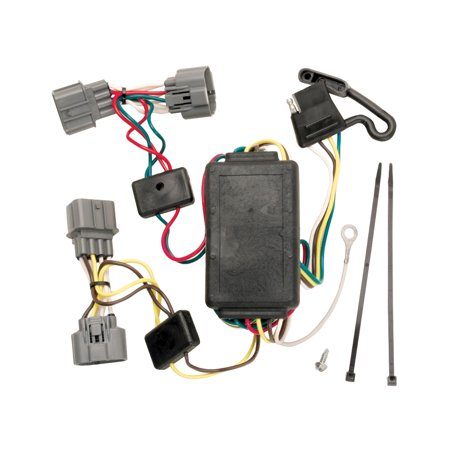 Tekonsha 118400 Trailer Wiring Connector T-One 4 Way Flat ... on trailer hitch harness, trailer mounting brackets, trailer generator, trailer fuses, trailer brakes, trailer plugs,